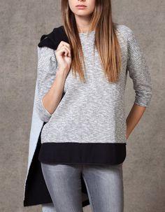 Maglietta traforata con falda - MAGLIETTE - DONNA  cbef3b5de603