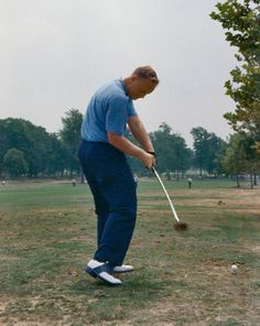 Captured just before impact, Jack's 1960s swing is a lesson in perfection.
