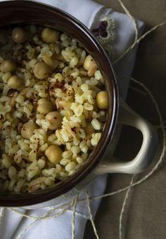 moja turecká kuchyňa: Nohutlu bulgur pilav/Bulgur pilav s cícerom
