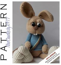 ~ Crocheted with materials listed, models which have been produced are approximately 22 inches tall. However, depending on your crochet style, this measurement may/will vary. ~
