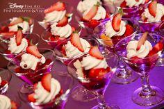 Strawberry shortcake served in martini glasses