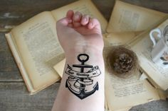 Temporary Tattoo Quote Keep holding on positive by Siideways