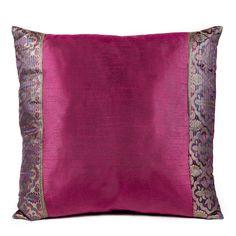 Small Heritage Silk Pillow - Crimson Red