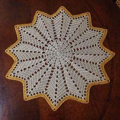 Crochet Doily Patterns, Crochet Borders, Crochet Squares, Crochet Patterns Amigurumi, Crochet Motif, Crochet Designs, Crochet Stitches, Crochet Sunflower, Crochet Flowers