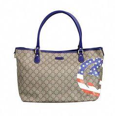 221facebd65c Gucci Coated Canvas Flag Handbag Tote Bag 203693 (US Flag)  Guccihandbags  Gucci Handbags