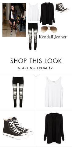 """""""Kendall Jenner"""" by hey-mate on Polyvore featuring Maurie & Eve, Monki, Converse, Warehouse and Ray-Ban"""