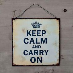 Blechschild - Keep Calm & Carry On plate.