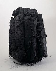 Katsuhiko Narita charcoal columns.