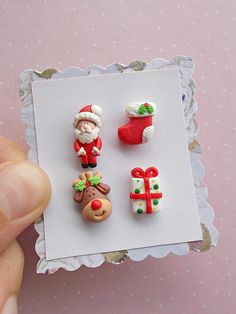 Christmas Earrings Set Christmas Earrings Santa Earrings