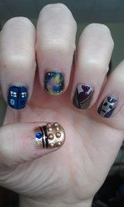 Made me think of a few people...you know who you are, lol. (Doctor Who Nail Art in Celebration of the 12th Doctor!)