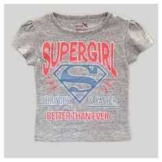 Toddler Girls' Supergirl Short Sleeve T-Shirt - Heather Gray