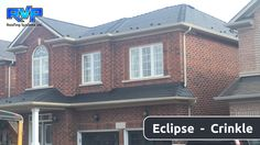 Here is another installation of the Armadura Metal Roof - Eclipse (black). It gives a stately look to this suburban home. Check out more at www.rvp-roofing.com  **  Don't forget to like and pin!  **  #RVP #armadura #permanentroof #highstrengthsteel #eclipse Roofing Systems, Metal Roof, Don't Forget, Homes, Steel, Mansions, House Styles, Check, Home Decor