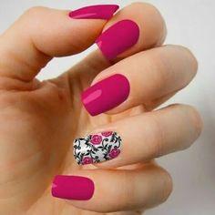 Modelones Gel Nail Polish Set - 16 Bright Color Gel Nail Polish Mini Size with No Wipe Base and Top PCS Soak Off Gel Nail Varnish Starter Manicure Kit Flower Nail Designs, Pink Nail Designs, Beautiful Nail Designs, Nail Polish Trends, Nail Polish Sets, Nail Trends, Gel Polish, Green Nails, Pink Nails