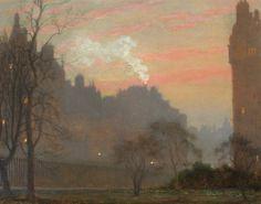 """""""  Kensington High Street, London - Sir Arthur Temple Felix Clay British, 1842-1928 Oil on canvas, 12 x 15 inches (30.5 x 38.2 cm) """""""