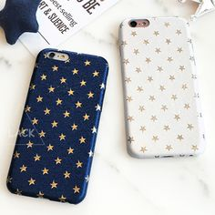 Luxury Gold Stars Cartoon Pattern Back Cover For iphone 5S Case For iphone 5 5S SE 6 6S Plus Capa Fashion Ultra Thin Phone Cases