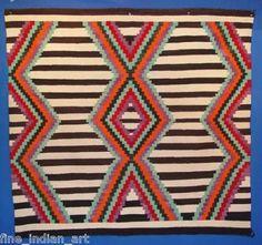 Navajo Indian Third Phase Chief Pattern Blanket-*-*-3350.bin