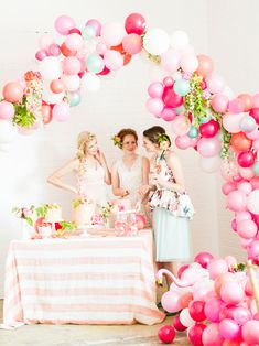 Flamingo Pop. A bridal collaboration with BHLDN and The House That Lars Built. Balloons installation by Brittany Watson Jepsen. Florals by T...