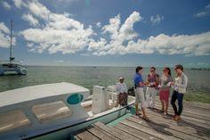Arrival at the dock of Belizean Shores Resort