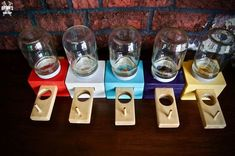 How To Make a Wood Candy Dispenser! Mason Jar Candy, Mason Jar Crafts, Mason Jars, Wood Projects For Kids, Wood Shop Projects, Project Ideas, Craft Ideas, Candy Dispenser, Woodworking For Kids