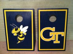 Georgia Tech Cornhole Boards by YourCustomBoards on Etsy https://www.etsy.com/listing/127131212/georgia-tech-cornhole-boards