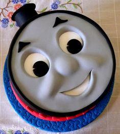 Thomas the Tank Cake Thomas Birthday Cakes, Thomas Birthday Parties, Thomas Cakes, 2nd Birthday, Thomas Tank Engine Cake, Thomas The Tank Cake, Thomas And Friends Cake, Cake Templates, Character Cakes