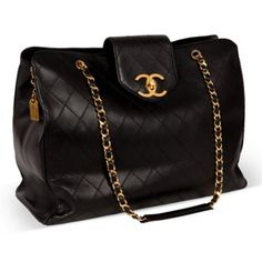 Check out this item at One Kings Lane! Chanel Black Lambskin Quilted Weekender