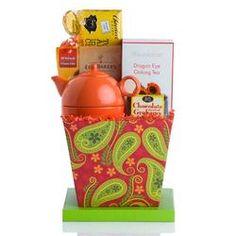Paisley Tea Gift Basket  $39.99 #pintowingifts