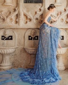 """607 Likes, 5 Comments - Praise Wedding (@praisewedding) on Instagram: """"An enchanting blue jewel gown from Bella Wedding Dress @catherine_wedding featuring delicate…"""""""