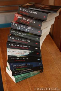 Karin Slaughter, love these books! Books To Read, My Books, Karin Slaughter, Crime Fiction, Thriller Books, World Of Books, Reading Quotes, Book Authors, Book Stuff