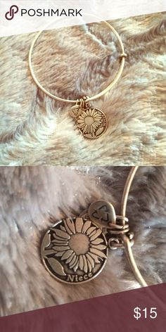 "Niece Alex and Ani Bracelet ""Niece"" Alex and Ani bracelet with sunflower Alex & Ani Jewelry Bracelets"