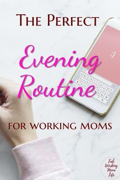Looking for an evening routine for working parents? Rock your busy working mom schedule with this evening routine checklist and organization tips! 5 things to add to your evening routine for an easier tomorrow! Working Mom Schedule, Working Mom Tips, Working Mums, Mom Planner, Routine Planner, Planner Tips, Mom Brain, Organisation Hacks, Mom Organization