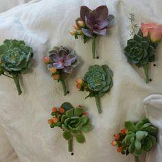 #succulents #bouttoniere #artisticbloom