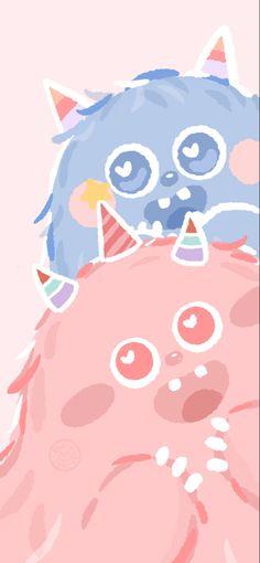 Wallpaper Doodle, Soft Wallpaper, Cute Patterns Wallpaper, Colorful Wallpaper, Cute Cartoon Images, Cute Cartoon Wallpapers, Cute Little Drawings, Cute Drawings, Aesthetic Colors