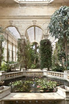 Victorian Greenhouse ~ on the grounds of the Castle Ashby manor house, near Northampton, England.