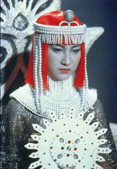 Tetsuko Kobayashi as Empress Mu in ATRAGON (1963).