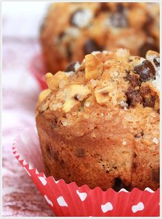 Hazelnut Chocolate Chip Muffins  1¼ cups all-purpose flour  ½ cup hazelnut meal  1 tsp baking powder  ¼ tsp salt  ¾ cup chocolate chips  ¾ cup sugar  ½ cup unsalted butter  3 egg  1 tsp vanilla  ¾ cup milk  sparkling sugar, to garnish  chopped hazelnuts, to garnish