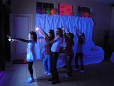 Girls Birthday Party Idea - Glow in the Dark Dance Party