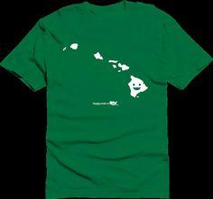 Happy State Co. hawaii Happy State Tshirt green by HappyStateco, $20.00