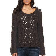 Allen B.(R) Cable Knit Sweater ($6) ❤ liked on Polyvore