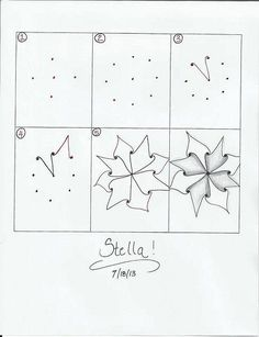 Zentangle pattern - Stella