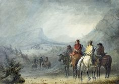 Storm - Waiting for the Caravan by Alfred Jacob Miller