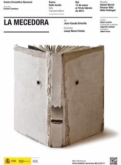 Book face by Isidro Ferrer click image for more like this Buch Design, Design Art, Poesia Visual, Design Graphique, Handmade Books, Typography Poster, Grafik Design, Book Cover Design, Bookbinding