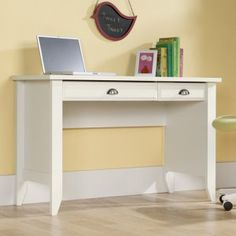 Sauder Shoal Creek Computer Desk - White - Desks at Hayneedle