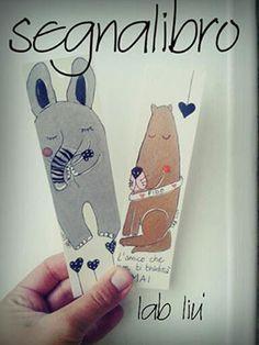 Segnalibro realizzato a mano con la tecnica dell'acquerello raffigurante un elefante e un cane. Handmade watercolor bookmark with dog and elephant.