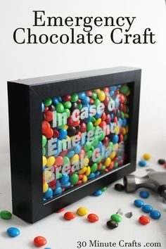 Emergency Chocolate Craft – In Case of Emergency Break Glass Christmas Food Gifts, Holiday Gifts, Christmas Crafts, Christmas Presents, Christmas Ideas, Cool Diy, Easy Diy, Homemade Gifts, Diy Gifts