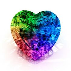 Rainbow diamond Heart