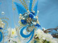 Сине-голубой цветок исполнит Ваше свадебное желание.Handiwork Irina Sharm. Design studio Soprun Vladislava.