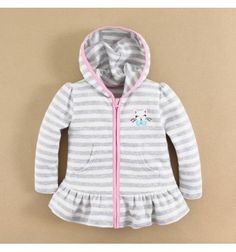 Mom and Bab Hooded Jacket - Cat Grey Stripes