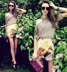 Wandering Minds Top, Ici Fashion Skirt, Marni Heels