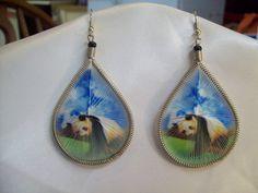 Beautiful Thread  Panda Bear Animal Wildlife by BeadedCreationsetc, $20.00